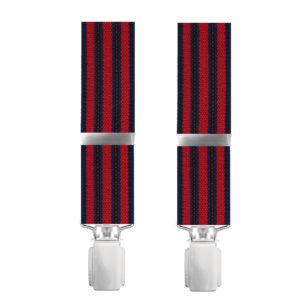 Ανδρικές τιράντες ριγέ κόκκινο μαύρο BEL305