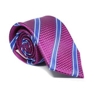 Μεταξωτή γραβάτα ριγέ χειροποίητη BR201