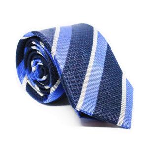Μεταξωτή γραβάτα ριγέ χειροποίητη BR202