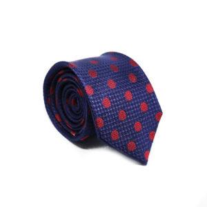 Μεταξωτή γραβάτα με βούλες χειροποίητη BR203