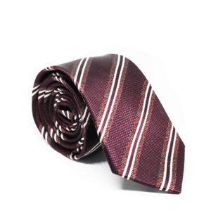 Μεταξωτή γραβάτα ριγέ χειροποίητη G106