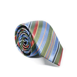 Μεταξωτή γραβάτα ριγέ G113