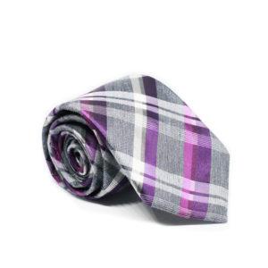 Μεταξωτή γραβάτα καρό G121