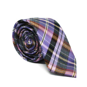 Μεταξωτή γραβάτα καρό G123