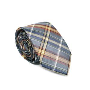 Μεταξωτή γραβάτα καρό G125