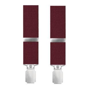 Ανδρικές τιράντες μονόχρωμες κόκκινες BEL303