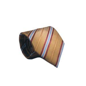 Μεταξωτή γραβάτα με ρίγες OT954