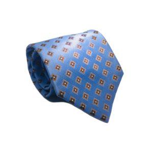 Μεταξωτή γραβάτα με καρό OT958