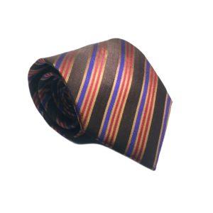 Μεταξωτή γραβάτα με κάρο OT961
